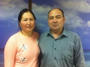 Айдаров Алимбек и Кудайбердиева Азизакан